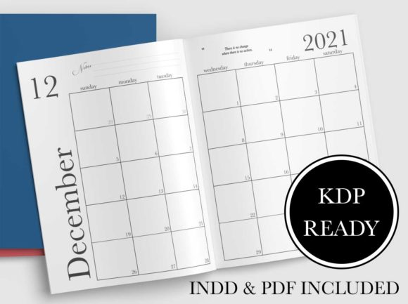 Print on Demand: 2021 Monthly & Weekly Planner for KDP Graphic KDP Interiors By planfantastic