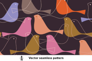 Print on Demand: Birds Seamless Pattern Graphic Patterns By northseastudio