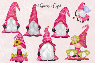 Print on Demand: Cute Gnomes Valentine's Day Clipart Graphic Illustrations By Suda Digital Art 2