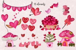 Print on Demand: Cute Gnomes Valentine's Day Clipart Graphic Illustrations By Suda Digital Art 3