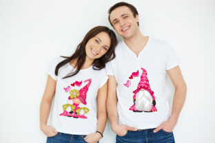 Print on Demand: Cute Gnomes Valentine's Day Clipart Graphic Illustrations By Suda Digital Art 4