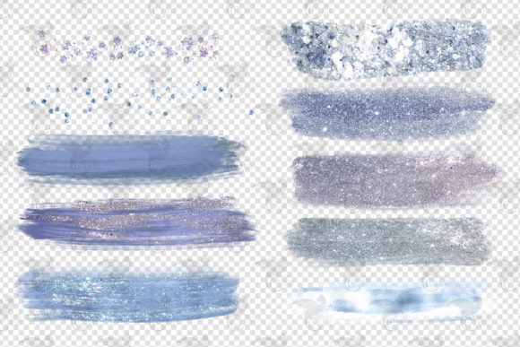 Frosty Brush Strokes Clipart Graphic Design