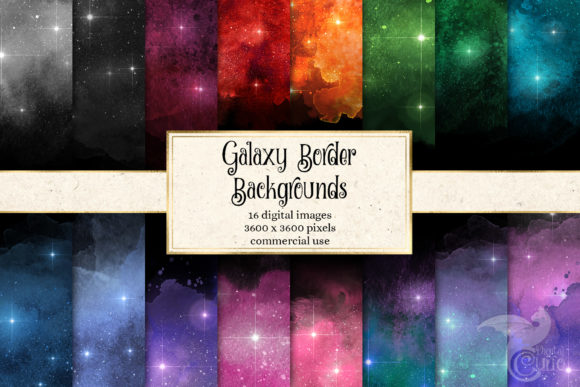 Print on Demand: Galaxy Borders Digital Paper Graphic Textures By Digital Curio