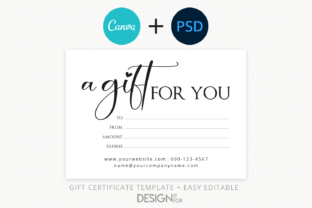 Print on Demand: Gift Certificate Template, Editable Graphic Print Templates By DesignItfor