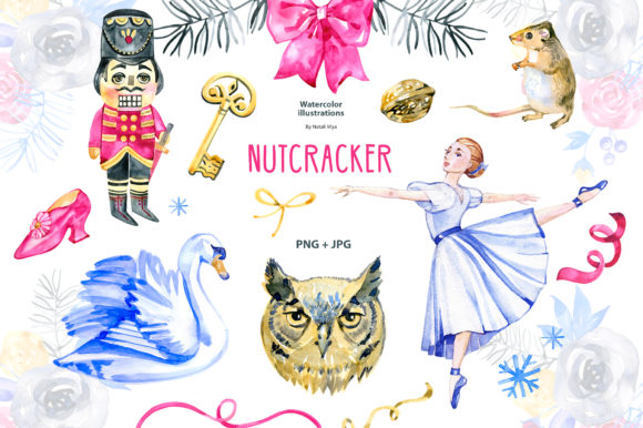 NUTCRACKER. Watercolor Clipart Graphic Illustrations By NataliMyaStore