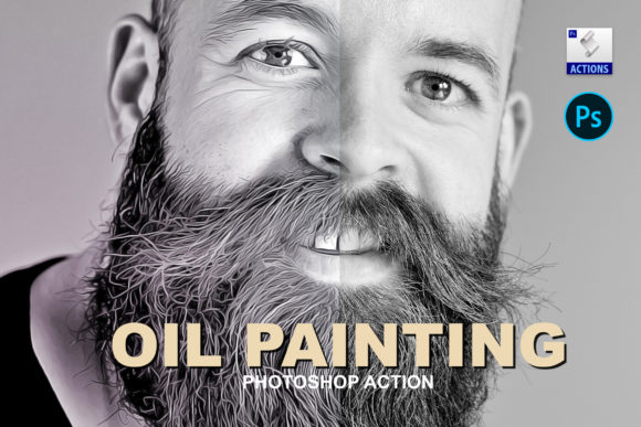 Oil Painting | PSD Action Graphic Actions & Presets By Gumacreative