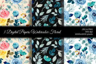 Print on Demand: Seamless Pattern Floral Watercolor 83 Graphic Patterns By asrulaqroni