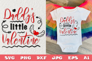 Print on Demand: Valentines Day - Daddy's Little Valentine Graphic Crafts By Citrum Nobile