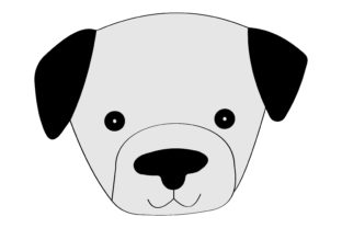 Cute Dog Face Illustration - 04 Graphic Illustrations By immut07