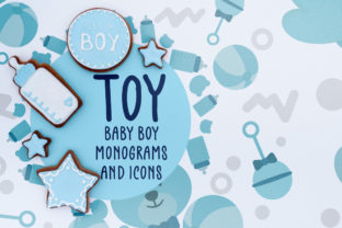 Baby Boy Monograms and Icons Graphic Crafts By Firefly Designs