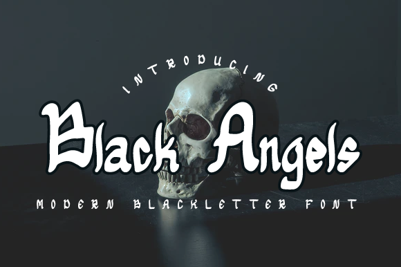 Print on Demand: Black Angels Blackletter Font By Masyafi Creative Studio