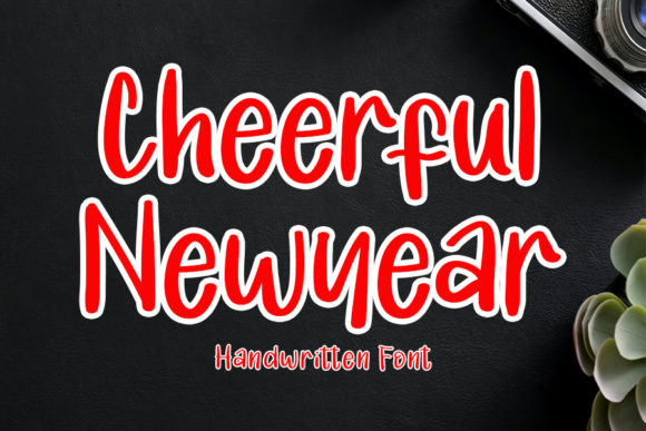 Print on Demand: Cheerful New Year Script & Handwritten Font By Inermedia STUDIO