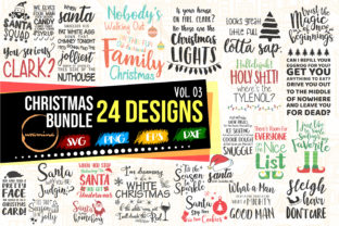 Print on Demand: Christmas Bundle Vol 03 - Winter Quotes Graphic Crafts By Uramina