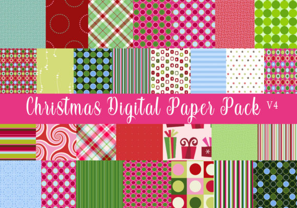 Print on Demand: Christmas Digital Paper Pack V4 Graphic Patterns By CapeAirForce