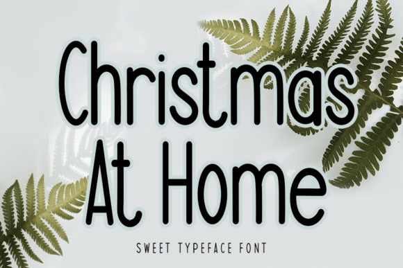 Print on Demand: Christmas at Home Sans Serif Font By Inermedia STUDIO