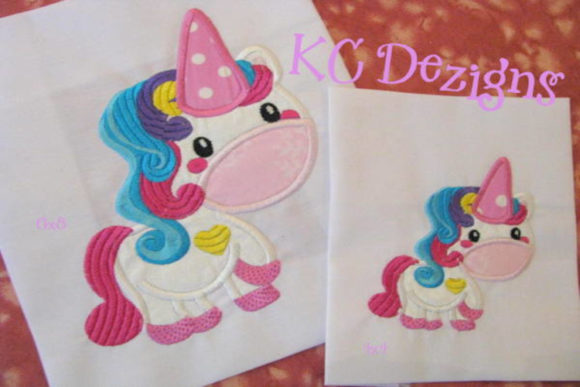 Cute Unicorn Applique Embroidery