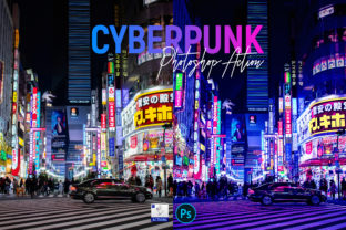Cyberpunk   PSD Action Graphic Actions & Presets By Gumacreative