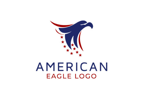 Eagle with American National Flag Logo Graphic Logos By Weasley99