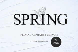 Print on Demand: Floral Alphabet Clipart Uppercase Letter Graphic Illustrations By Tiana Geo