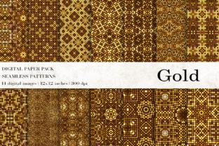 Gold Digital Papers, Gold Patterns Graphic Patterns By BonaDesigns