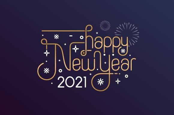 Happy New Year 2021 Lettering Graphic Graphic Templates By Freshcare