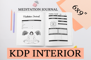 Print on Demand: Meditation Journal | KDP Journal Graphic KDP Interiors By KDP Mastermind