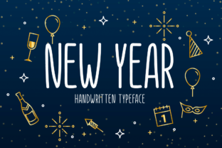 Print on Demand: New Year Script & Handwritten Font By Seemly Fonts