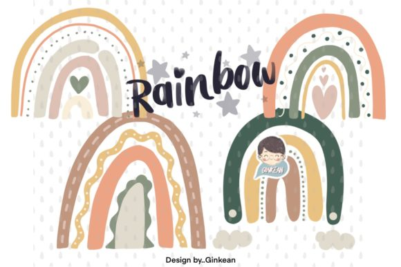 Print on Demand: Rainbow Graphic Graphic Templates By Ginkean
