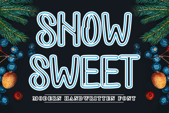 Print on Demand: Snow Sweet Manuscrita Fuente Por NYA Letter