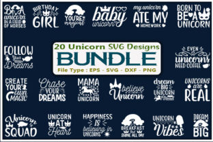 Unicorn Design Bundle Graphic Print Templates By creative_store