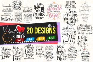Print on Demand: Valentine Bundle Vol 03 - Love Sayings Graphic Crafts By Uramina