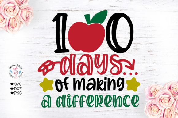 100 Days of Making a Difference - School Gráfico Crafts Por GraphicHouseDesign