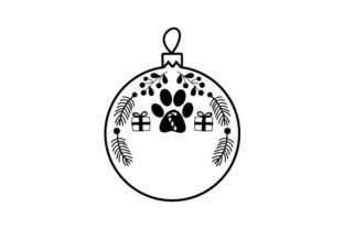 Dog Paw Ornament Weihnachten Plotterdatei von Creative Fabrica Crafts