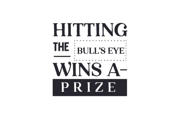 Hitting the Bull's Eye Wins a Prize Bathroom Craft Cut File By Creative Fabrica Crafts