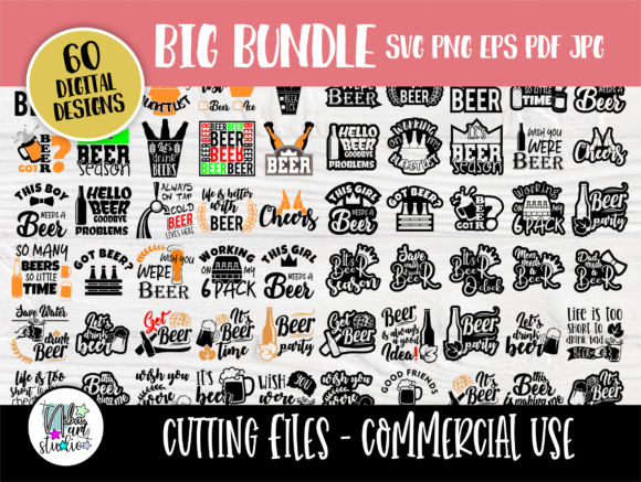 Print on Demand: Alcohol Bundle, Beer Shirt  Graphic Crafts By nibaartstudio