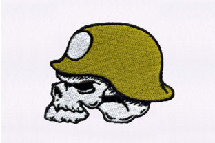 Army Hat Skull Military Embroidery Design By DigitEMB