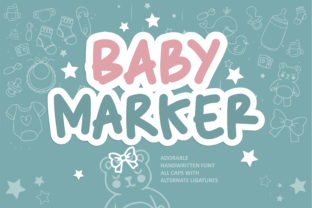Print on Demand: Baby Marker Script & Handwritten Font By arukidz.fl