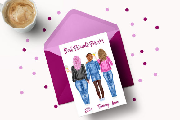 Best Friends Clipart Jeans Jackets Mug Graphic Preview