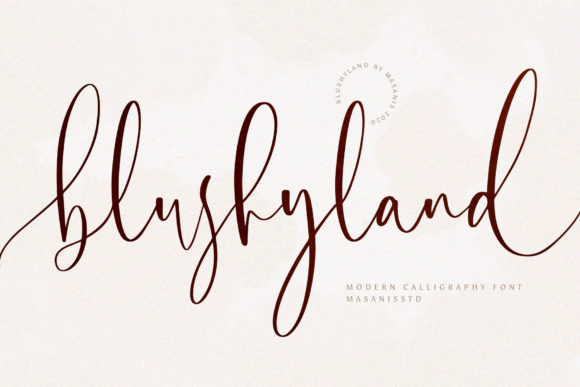 Print on Demand: Blushyland Script & Handwritten Font By Mas Anis