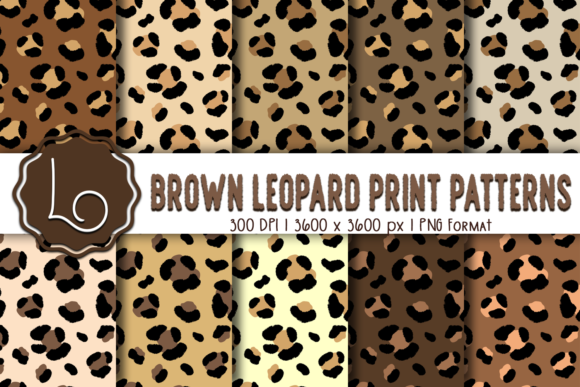 Print on Demand: Brown Leopard Print Patterns Graphic Patterns By La Oliveira