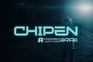 Print on Demand: Chipen Display Font By 38.lineart