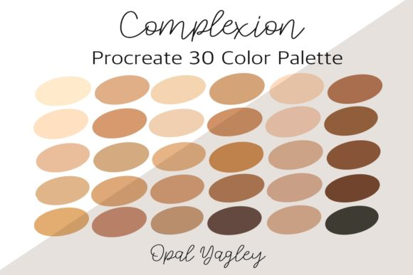 Print on Demand: Complexion Procreate Color Palette Graphic Add-ons By opal.yagley