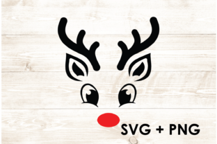 Print on Demand: Cute Happy Rudolph Reindeer Red Nose Graphic Print Templates By Too Sweet Inc
