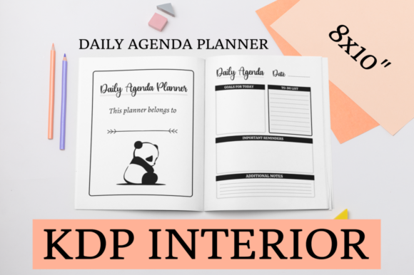 Print on Demand: Daily Agenda Planner | KDP Interior Graphic KDP Interiors By KDP Mastermind