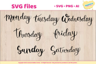 Print on Demand: Day of the Week,SVG Hand Lettered Pack Graphic Crafts By mascute.arte