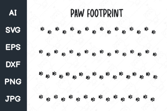 Print on Demand: Dog and Cat Paw Prints. Footprints Svg Graphic Illustrations By CRStocker