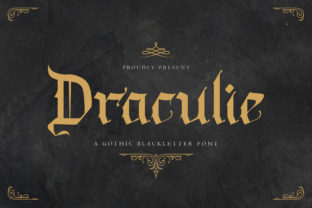 Print on Demand: Draculie Blackletter Font By TypeFactory