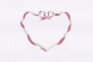 Entwined Ribbon Heart Awareness Embroidery Design By DigitEMB