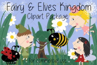 Print on Demand: Fairy Clipart, Elf Clipart, Childrens, Graphic Illustrations By CommercialCliparts