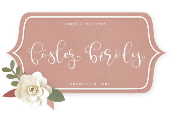 Print on Demand: Foslez Biroly Script & Handwritten Font By enyaaa90